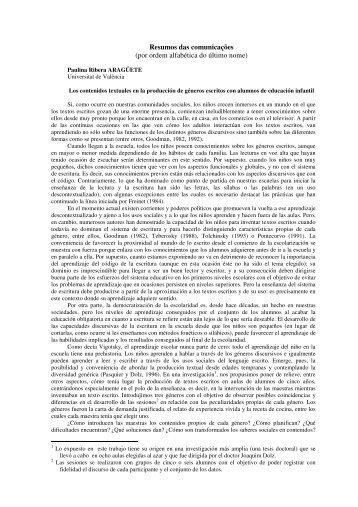 Resumos das comunicações - Universidade Nova de Lisboa