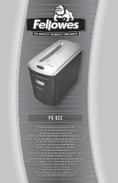 PS-62C Manual - Fellowes