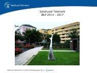 Vedlegg: Presentasjon av ØLP 2014_2017 - Sykehuset Telemark
