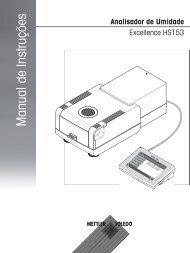 Manual de Instruções Analisador de Umidade Excellence HS153