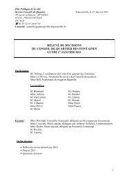 Relevé de décisions du 17 janvier 2011 - Franconville