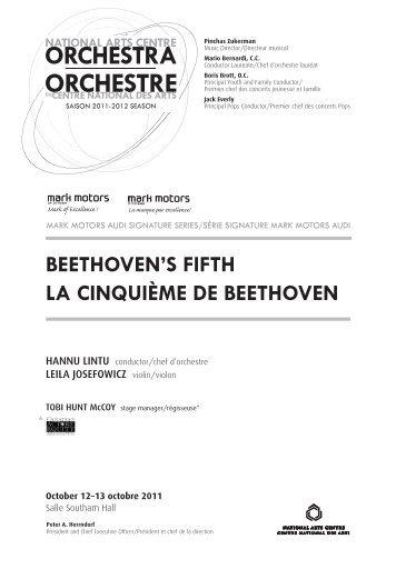BEETHOVEN'S FIFTH LA CINQUIèME DE BEETHOVEN - ArtsAlive.ca