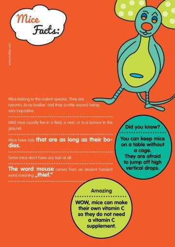 Mice Facts: - Motlies