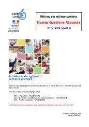 Dossier Questions-Réponses