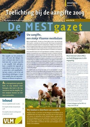 Toelichting bij de aangifte 2009 - Vlaamse Landmaatschappij