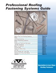 Professional Roofing Fastening Systems Guide - Triangle Fastener
