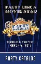 party catalog - Temple B'nai Israel