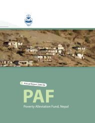 Annual Report 2005/2006 - Poverty Alleviation Fund, Nepal