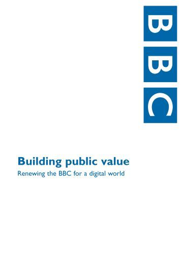 Building public value in the future - BBC