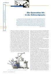 Die Generation 50+ in der Zahnarztpraxis - KAVO.cz