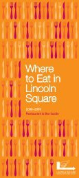 Where to Eat in Lincoln Square - Lincoln Square Business ...