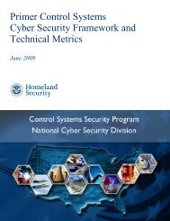 Primer Control Systems Cyber Security Framework and ... - ICS-CERT