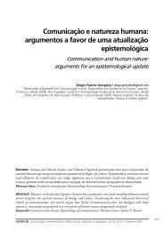 Comunicação e natureza humana: argumentos a favor de ... - Logos