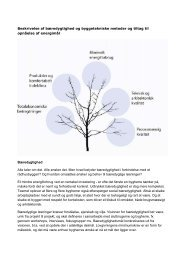 Beskrivelse af bæredygtighed og byggetekniske metoder og tiltag til ...