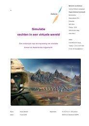 Simulatie vechten in een virtuele wereld - ProDef
