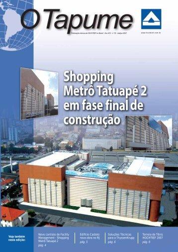 Novo contrato de Facility Management - Shopping Metrô Tatuapé 2 ...