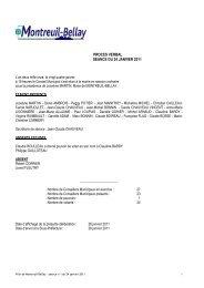 procès verbal du 24 janvier 2011 - Montreuil-Bellay