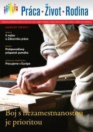 Práca-Život-Rodina 08/2011 - Ústredie práce, sociálnych vecí a rodiny