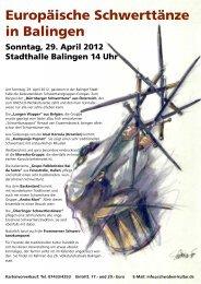 Europäische Schwerttänze in Balingen - Schwaben-Kultur