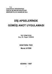 diş apselerinde gümüş anot uygulaması - Aydın, Murat, Dr. Dt.