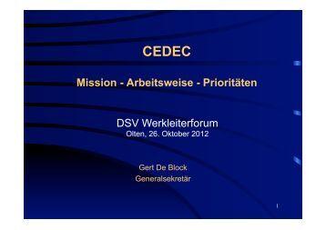 Mission - Arbeitsweise - Prioritäten DSV Werkleiterforum