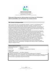 (Richtlinie 92/43/EWG) in den FFH-Gebieten des Fr