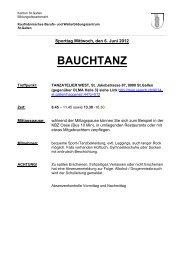 BAUCHTANZ