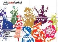 Volkstanzfestival - Schwaben-Kultur