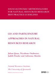 GIS and Participatory Approaches in Natural Resources Research