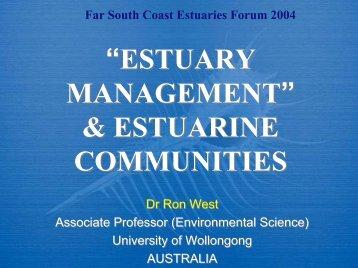 """""""ESTUARY MANAGEMENT"""" & ESTUARINE COMMUNITIES ..."""