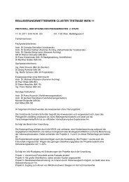 Protokoll der Sitzung des Preisgerichts 2. Stufe vom