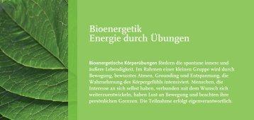 Bioenergetik Energie durch Übungen - Anna Maurer
