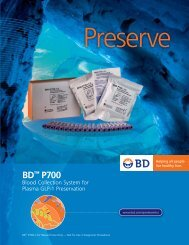 "BDâ""¢ P700 Blood Collection System for Plasma GLP-1 Preservation"