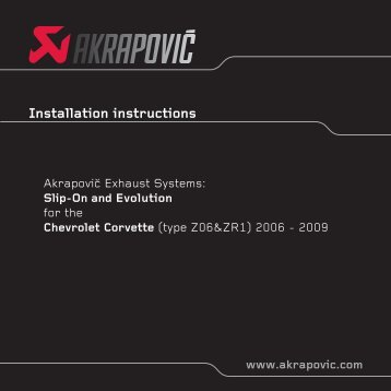 Installation instructions - Akrapovic Auspuff