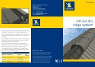 roll-out dry ridge system