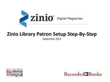 Zinio Library Patron Setup Step-By-Step - La Grange Public Library