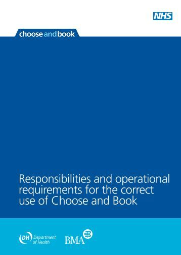 Responsibilities and operational requirements ... - Choose and Book