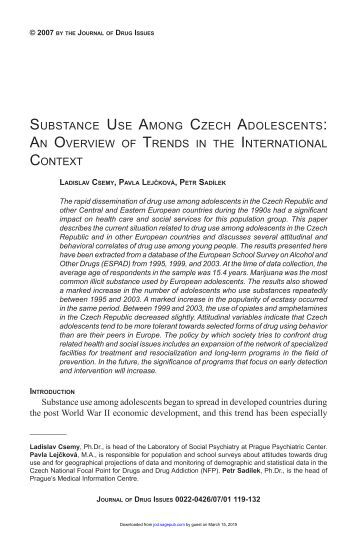 journal posting with dependency to help you drugs
