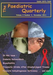 Volume 3 no. 3, 2011 - The Paediatric Quarterly