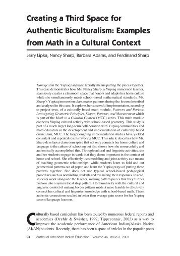 Examples from Math in a Cultural Context - Journal of American ...