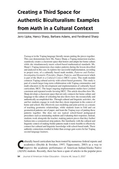 Examples from Math in a Cultural Context - Journal of American