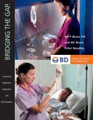 BD Blunt Fill and BD Blunt Filter Needles - Alberta Health Services