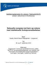 Velkommen til Konferanse - Sykehuset Telemark