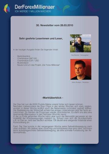 Newsletter vom 28.03.2010 - Der Forex Millionaer