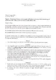 Convocazione Elezioni 2012 - Ordine dei Geologi della Lombardia