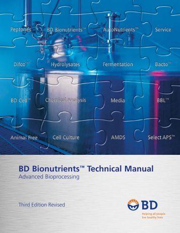 "BD Bionutrientsâ""¢ Technical Manual"