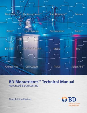"BD Bionutrientsâ""¢ Technical Manual"