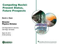 Computing Nuclei: Present Status, Future Prospects - Oak Ridge ...