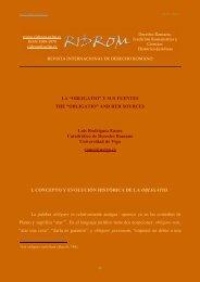 obligatio - revista internacional de derecho romano-index