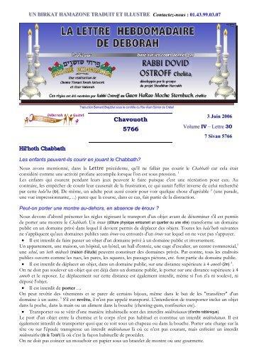 Volume IV - lettre n°30 - Association Deborah Guitel